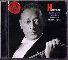 Jascha HEIFETZ: BEETHOVEN BRAHMS Violin Concerto REINER MUNCH CD Fritz Charles