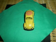 Vintage Zylmex Zee D20 Volkswagon Yellow Beetle Bug w/ Heart-Sun Roof