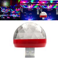 1x New Car Interior Atmosphere Neon Lights Colorful LED USB RGB Decor Music Lamp