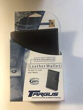 Targus Leather Wallet, orig/PDA,Pen/Stylus holder, 3 card slots loop thru close