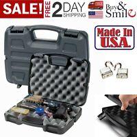 Gun Hard Case Handgun Double Or Single Box Lock Pistol Revolver Storage Case New