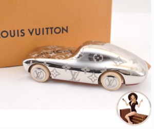 New! LOUIS VUITTON Silver Race Car Collectible Paper Weight in LV Box +Dust Bag