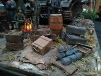 1/16 Tank Stowage, 14 pcs.  Ammo crates ,Boxes , Barrels and Bed rolls !
