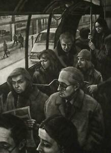 """Art Werger """"Silence"""" (1994) Large Etching Mezzotint Signed Numbered"""