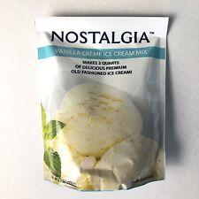 Nostalgia Vanilla Creme Ice Cream Mix New Bag Premium Old Fashioned EXP 11/2020