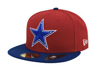 New Era 59Fifty Cap Mens NFL Dallas Cowboys Red Royal Blue Star Fitted 5950 Hat
