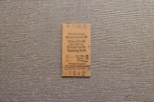 Fahrkarte AT WIener Neustadt - Kaumberg Markt usw (1972) (P05)