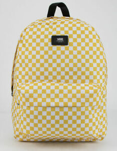 VANS Old Skool Yellow Checkered Backpack New