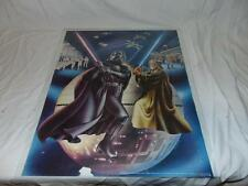 """1978 Official Star Wars Poster Darth Vader battling Obi Wan Kenobi 23"""" x 18 1/2"""""""