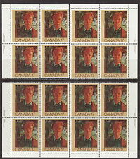 CANADA #888 17¢ Canadian Painters Match Set of Plate Blocks MNH