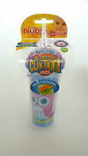Nuby 10095 Click It! Insulated Flex Straw Beaker Pink/Blue Owl
