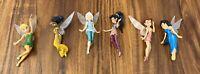Disney Fairies Figurine Set Lot Tinkerbell Pixie Hollow Friends Mini Dolls