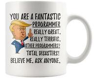 Funny Fantastic Computer Programmer Coffee Mug, Christmas Birthday Trump Gift