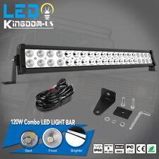 24 inch 120W Led Light Bar + Wiring Kit Spot Flood Combo Work UTE Truck SUV ATV
