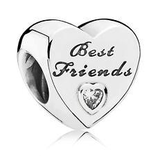 Original PANDORA elemento de plata 791727cz charm Best Friends-Corazón