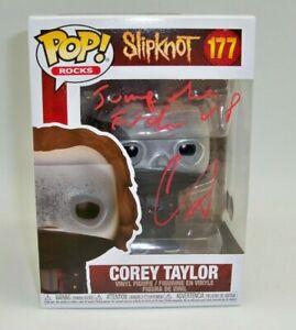COREY TAYLOR Signed SLIPKNOT Funko Pop Stone Sour 177 CMFT Autograph BAS COA