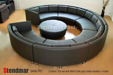 7PC MODERN ROUND SECTIONAL LEATHER SOFA SET S406CG