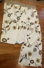 Pier 1 Imports West End Curtain Panels Cream & Brown Floral 4 Panels 84 in×54 in