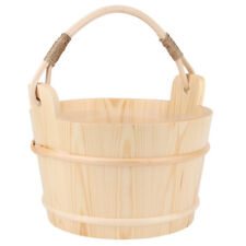 6L High Capacity Wooden Sauna Bucket With Ladle Sauna Steam Room Acces Household
