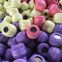 Limol Multicolor 50 Grs 100% Mercerized Crochet Thread Set of 2 Cotton Balls