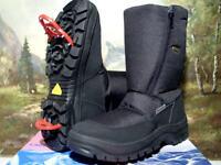 Lackner Stiefel mit Spikes Winterschuhe Boots Schwarz Gr. 40-47 7627-1 Neu23