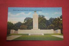 Vintage Postcard Eternal Light Peace Memorial, Gettysburg, Pa.