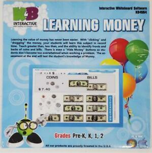 Interactive Whiteboard Software Learning Money K&B KB4554 NEW 2011 for PC & MAC