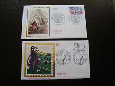 FRANCE - 2 enveloppes 1er jour 1980 (golf/comedie francaise) (cy38) french