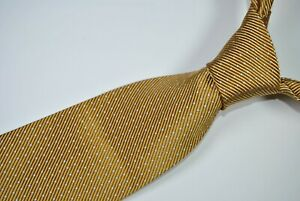 BROOKS BROTHERS MAKERS Tie MADE IN USA 52% Silk 48% Cotton Beige Color L59 W3.9