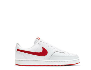 Mens Nike Court Vision Low Basketball Shoes Sneakers White Red CD5463 102 Lo