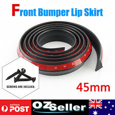 Universal Car Lip Skirt Protector Front Rear Bumper Side Spoiler Per Meter x45MM