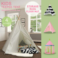 Tiny Land Indian Cotton Canvas Kids Teepee Tent Childrens Wigwam Indoor Playtent