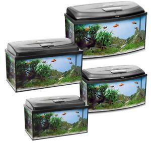 Aquael Aquarium Set CLASSIC LT inkl. Abdeckung, Filter, Heizer, LED Beleuchtung