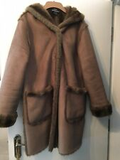 dennis basso faux fur Coat With Hood Size S