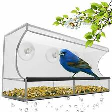 Best Window Bird Feeder with Strong Suction Cups & Seed Tray Outdoor Wild Birds