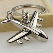 Metal Simulation Model Airplane Keychain Key Chain Ring Keyring Fashion