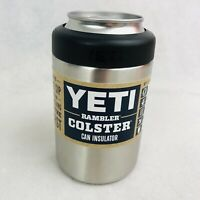 Yeti Rambler Colster Can Insulator 12 oz Silver Stainless Steel Brand New