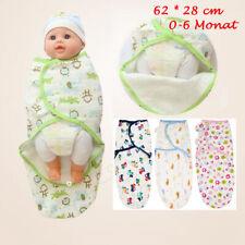 Baby Swaddle Wrap Pucktuch Baumwolle Wickeltuch Pucksack Schlafsack 0-6 Monat 1X
