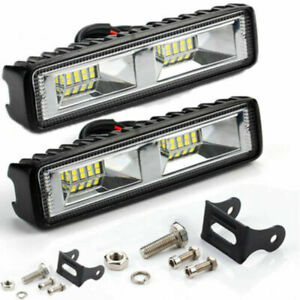 2X 18W 12V 16LED Work Light Bulb Spot Beam Bar Car SUV Off Road Driving Fog Lamp