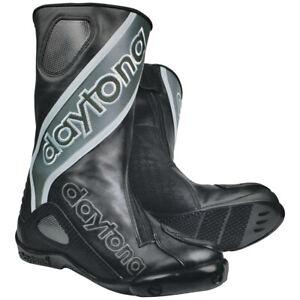 Daytona Evo SPORTS Hommes Course Bottes de Moto Cuir - Noir Gris