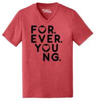 Mens Forever Young Triblend V-Neck Girlfriend Wife Quotes