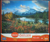 jigsaw puzzle 1500 pc MEGA deluxe Endless Beauty fall color at the lake mountain