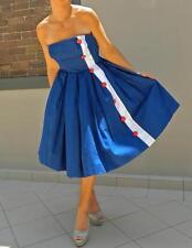 VINTAGE Couture 1950's Original  Rare Rockabilly Nautical Glamour Pin-up Dress