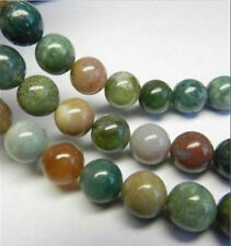 AAA 4MM Natural India RARE Agate Gemstones Round Loose Beads 15''