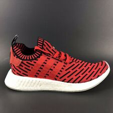 Adidas NMD R2 PK Men's Sneaker Boost Primeknit Core Red Black Size 9.5