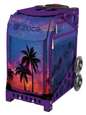 ZUCA Bag ISLAND LIFE Insert & Purple Frame w/Flashing Wheels - FREE SEAT CUSHION