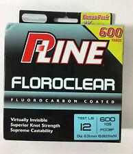 Pline Clear Floroclear Fluorocarbon 12 lb Fishing Line 600 yd