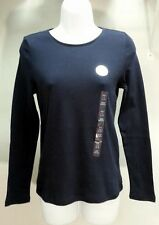 NWT CHARTER CLUB Luxury Blue Solid Long Sleeve Shirt Top Blouse Sz: PP