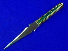 US Custom Hand Made AL SWEENEY Fancy Stiletto Boot Fighting Knife