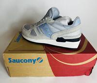 Saucony Shadow Original Grey/Blue Sneakers Shoes Men Size 7.5